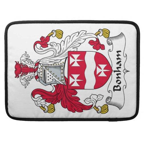 Escudo de la familia de Bonham Fundas Para Macbooks