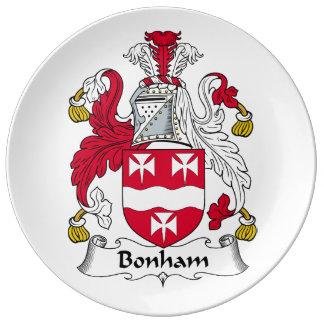 Escudo de la familia de Bonham Platos De Cerámica