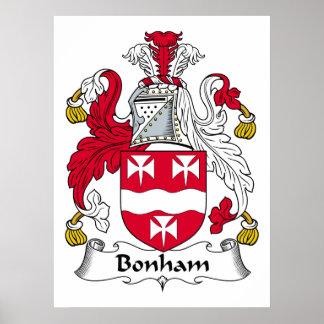Escudo de la familia de Bonham Póster