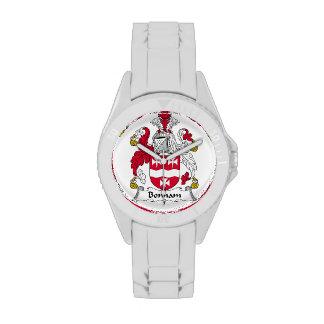 Escudo de la familia de Bonham Relojes De Mano