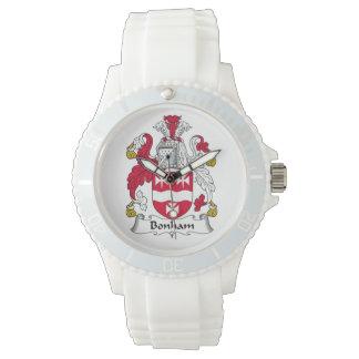 Escudo de la familia de Bonham Relojes De Pulsera