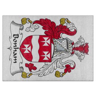 Escudo de la familia de Bonham Tablas De Cortar