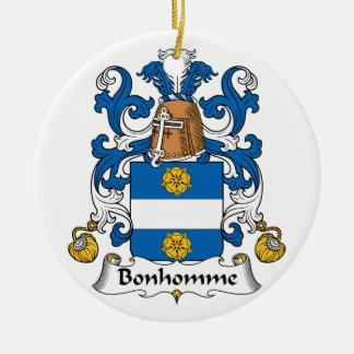 Escudo de la familia de Bonhomme Ornamentos De Navidad