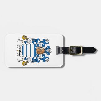 Escudo de la familia de Bonifacio Etiqueta De Equipaje