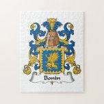 Escudo de la familia de Bonin Rompecabeza Con Fotos