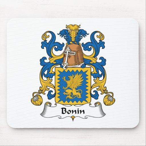 Escudo de la familia de Bonin Alfombrillas De Raton