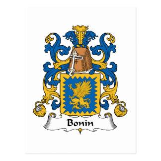 Escudo de la familia de Bonin Postal