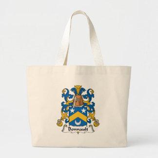 Escudo de la familia de Bonnault Bolsa Tela Grande