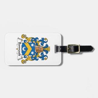 Escudo de la familia de Bonnault Etiquetas Para Maletas