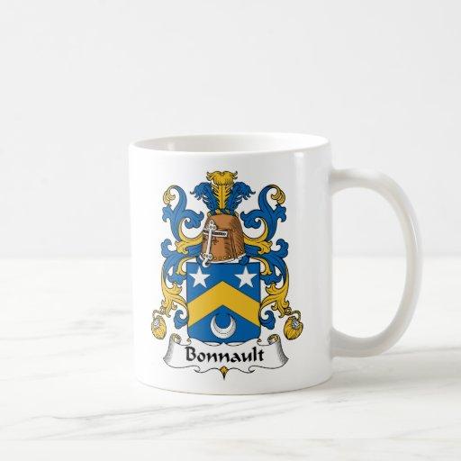 Escudo de la familia de Bonnault Taza De Café