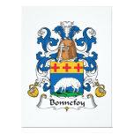 Escudo de la familia de Bonnefoy Invitación 16,5 X 22,2 Cm