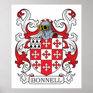 Escudo de la familia de Bonnell Póster