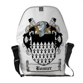 Escudo de la familia de Bonner Bolsas De Mensajeria