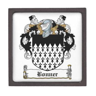 Escudo de la familia de Bonner Cajas De Joyas De Calidad