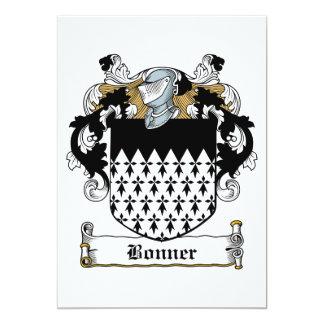 Escudo de la familia de Bonner Invitación 12,7 X 17,8 Cm