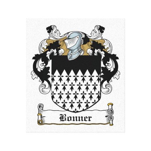 Escudo de la familia de Bonner Lona Envuelta Para Galerías