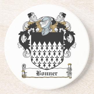 Escudo de la familia de Bonner Posavasos Personalizados