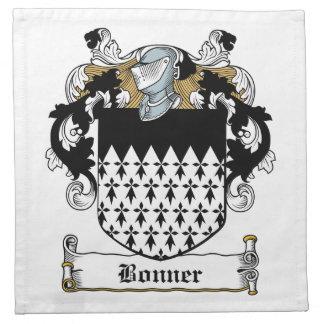 Escudo de la familia de Bonner Servilletas De Papel