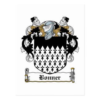 Escudo de la familia de Bonner Tarjetas Postales