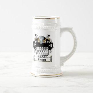 Escudo de la familia de Bonner Tazas De Café