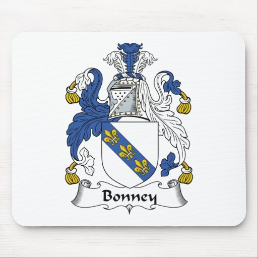 Escudo de la familia de Bonney Alfombrillas De Ratones