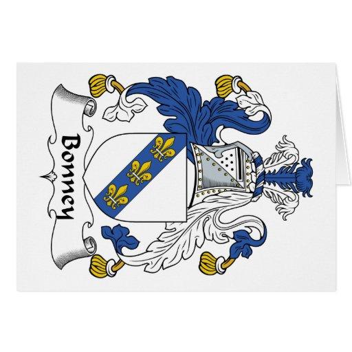 Escudo de la familia de Bonney Tarjeta De Felicitación