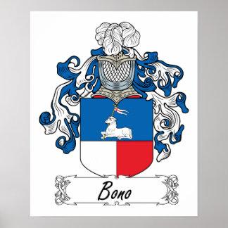 Escudo de la familia de Bono Impresiones