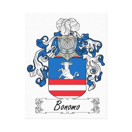 Escudo de la familia de Bonomo Impresión En Lona Estirada