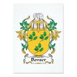 Escudo de la familia de Bonser Invitaciones Personales