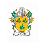 Escudo de la familia de Bonser Tarjeta Postal
