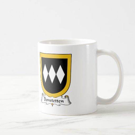 Escudo de la familia de Bonstetten Tazas De Café