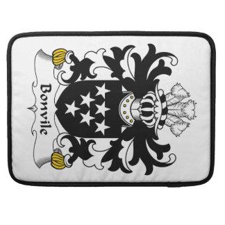 Escudo de la familia de Bonvile Funda Para Macbook Pro
