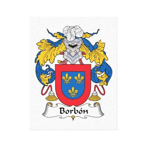 Escudo de la familia de Borbon Impresiones En Lona