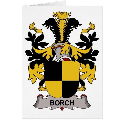 Escudo de la familia de Borch Tarjeta De Felicitación