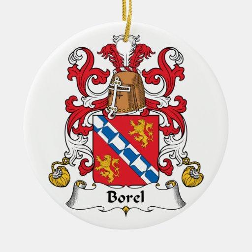 Escudo de la familia de Borel Ornamentos Para Reyes Magos