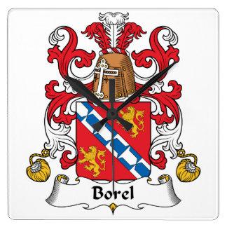 Escudo de la familia de Borel Reloj Cuadrado