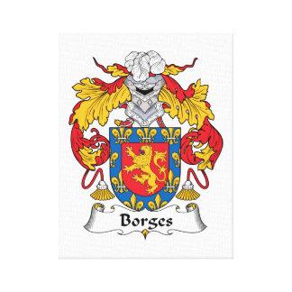 Escudo de la familia de Borges Impresión En Lienzo