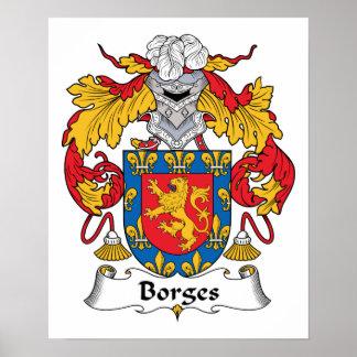 Escudo de la familia de Borges Póster