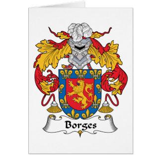 Escudo de la familia de Borges Tarjeta De Felicitación