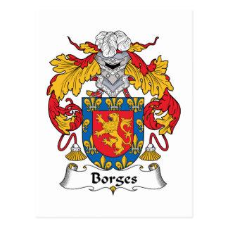 Escudo de la familia de Borges Tarjeta Postal