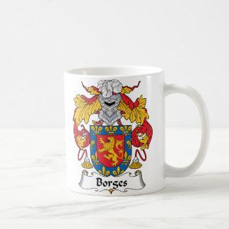Escudo de la familia de Borges Tazas De Café