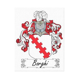 Escudo de la familia de Borghi Impresiones En Lienzo Estiradas