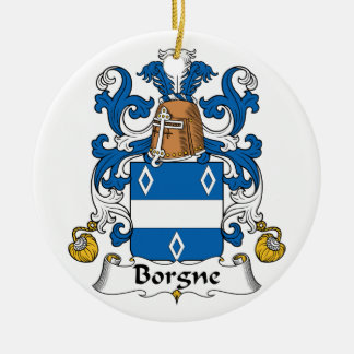 Escudo de la familia de Borgne Adornos