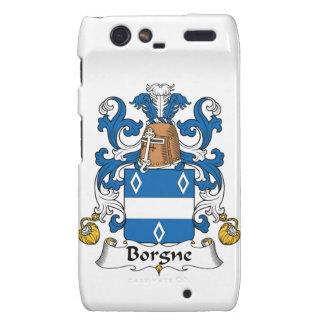Escudo de la familia de Borgne Droid RAZR Funda
