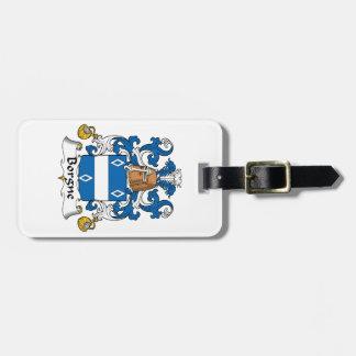 Escudo de la familia de Borgne Etiquetas Para Maletas