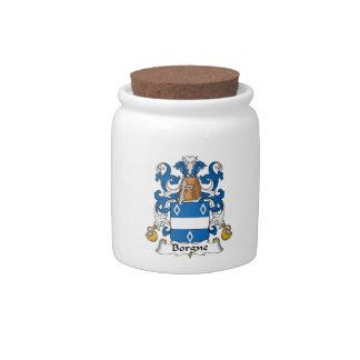 Escudo de la familia de Borgne Platos Para Caramelos
