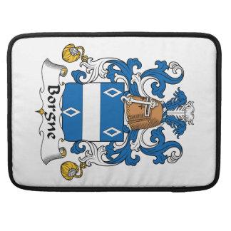 Escudo de la familia de Borgne Fundas Macbook Pro