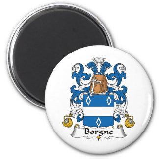 Escudo de la familia de Borgne Imán Redondo 5 Cm