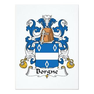 Escudo de la familia de Borgne Invitación
