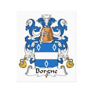 Escudo de la familia de Borgne Lona Envuelta Para Galerias